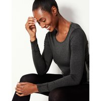 M&S Collection Jaspe Quick Dry Long Sleeve Top