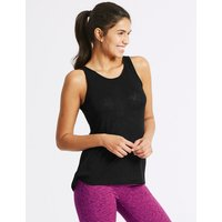M&S Collection Textured Burnout Vest Top