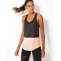 M&S Collection Colour Block Loose Sleeveless Vest Top