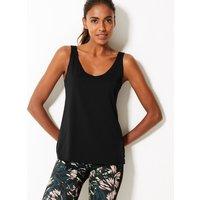 M&S Collection Active Bonded V-Neck Vest Top