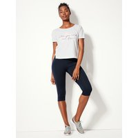 M&S Collection Quick Dry Cropped Sport Leggings