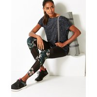 M&S Collection Mesh & Print Panelled Leggings