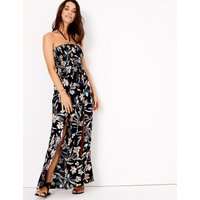 MandS Collection Floral Halter Neck Swing Beach Dress