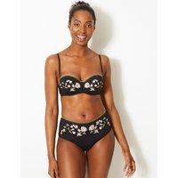 M&S Collection Embroidered Bandeau Bikini Top A-E