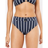 M&S Collection Striped High Waisted Bikini Bottoms