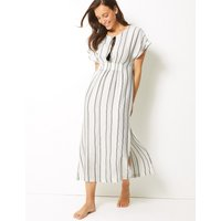 M&S Collection Striped Kaftan Beach Dress