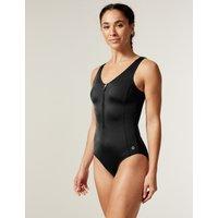 Active Zip Through Swimsuit black