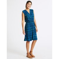 M&S Collection Leaf Print Wrap Beach Dress