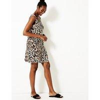 M&S Collection Animal Print Slip Beach Dress
