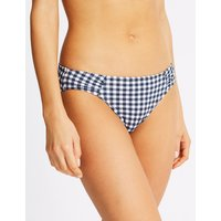 M&S Collection Gingham Print Hipster Bikini Bottoms