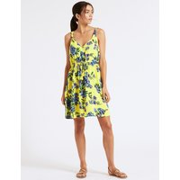 M&S Collection Floral Print Knot Beach Dress
