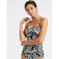 M&S Collection Printed Bandeau Tankini Top