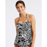 M&S Collection Printed Tie Back Non-Wired Tankini Top
