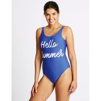 M&S Collection Secret Slimming Printed Swimsuit