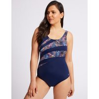 M&S Collection Post Surgery Active Secret Slimming Printed Swimsuit