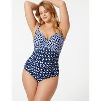 M&S Collection Secret Slimming Non-Wired Plunge Swimsuit