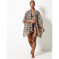 MandS Collection Feather Print Beach Kaftan