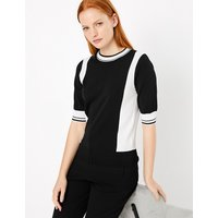 Autograph Colour Block 3/4 Sleeve Jumper