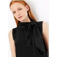 Autograph Scarf Neckline Sleeveless Shell Top