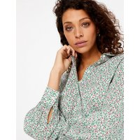 Per Una Pure Cotton Floral Shirt