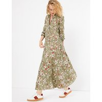 Per Una Pure Cotton Floral Print Shirt Dress