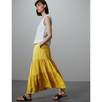 Autograph Gathered Tiered Maxi Skirt