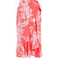 Per Una Printed Ruffle Midi Wrap Skirt