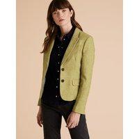 Per Una Wool Herringbone Hacking Jacket
