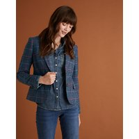 Per Una Wool Checked Hacking Jacket