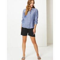 M&S Collection Linen Rich Chino Shorts