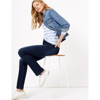 M&S Collection Mid Rise Straight Leg Jeans