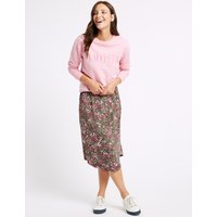 M&S Collection Printed Jersey A-Line Skirt