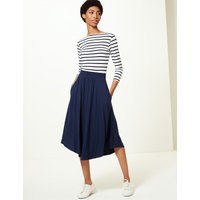 M&S Collection Jersey A-Line Midi Skirt