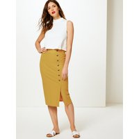M&S Collection Ribbed Jersey A-Line Midi Skirt