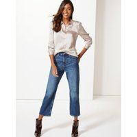 M&S Collection Mid Rise Straight Leg Cropped Jeans