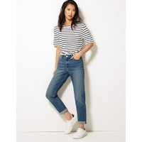 M&S Collection Relaxed Mid Rise Slim Jeans