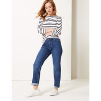 M&S Collection PETITE Cotton Rich Ankle Grazer Jeans