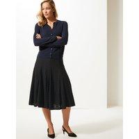 M&S Collection Textured Full Midi Skirt