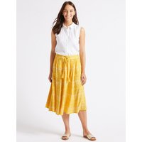 M&S Collection Embroidered Full Midi Skirt