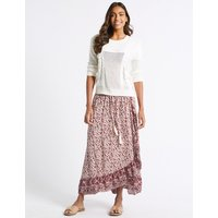 M&S Collection Floral Print Full Maxi Skirt