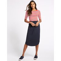 MandS Collection Jersey A-Line Midi Skirt