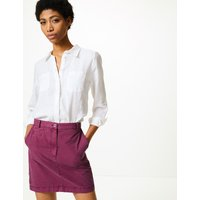 MandS Collection Pure Cotton Chino Mini Skirt