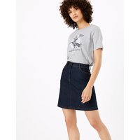 M&S Collection Denim A-Line Mini Skirt