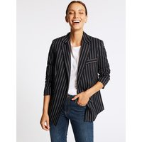 M&S Collection Striped Double Breasted Blazer