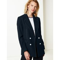 M&S Collection Contrast Stitch Double Breasted Blazer