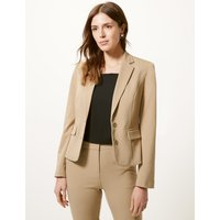 M&S Collection Tailored Button Cuff Blazer