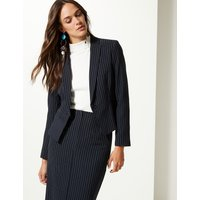 M&S Collection Striped Single Breasted Blazer