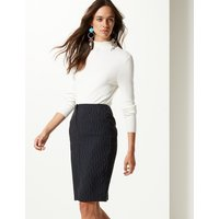 MandS Collection Striped Pencil Mini Skirt