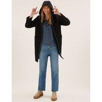 MandS Womens Wool Hooded Coat - 6 - Black, Black