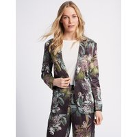 M&S Collection Floral Print Single Breasted Blazer